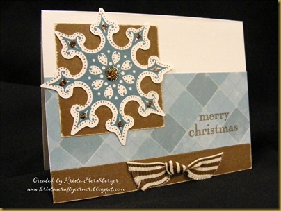 wonderland cricut snowflake card - khershberger