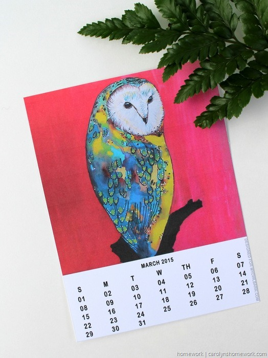 2015 Owl Lovers Calendar via homework (4)