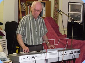 Peter Brophy accompanying one of the other keyboards.