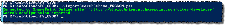 PS CSOM import search schema