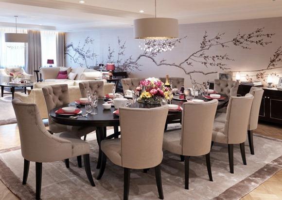 20 Comedores Convencionales Decorados Con Atractivos Murales Idecorar - Comedores-decorados