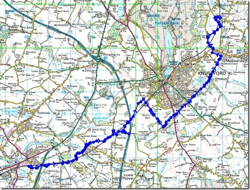Lostock Gralam to Mobberley route