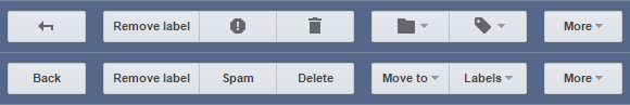 Gmail buttons icon vs. text