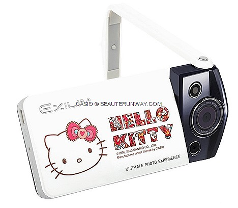 HELLO KITTY CASIO CAMERA EXILIM EX-TR10 SINGAPORE LIMITED EDITION SANRIO HONG KONG wooden case, passport holder, carrying bag, camera pouch, camera strap, screen cleaner beautiful self-portraits swivel function EXCLUSIVE COMEX 2013