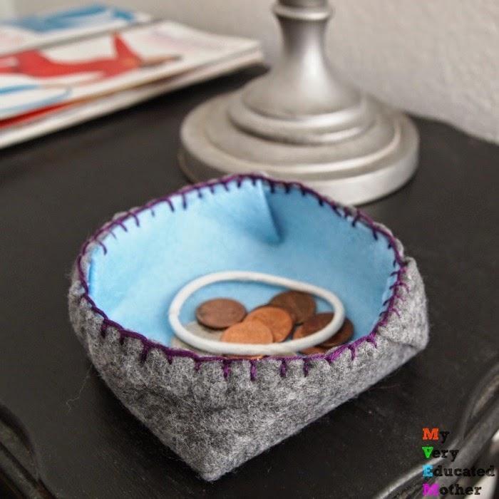 Origami Inspired Felt Bowl