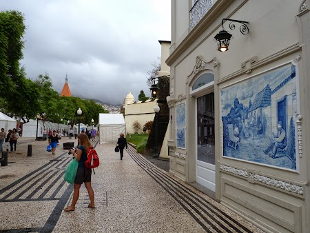 Revelion 2014:  Azulejos pe strazile din Funchal