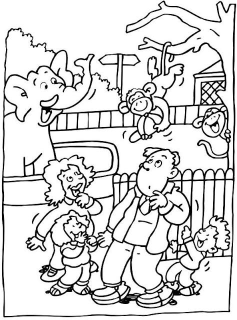 Dibujos Del Zoologico Para Colorear