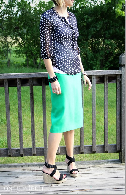 green-pencil-skirt