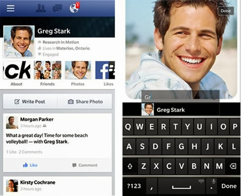 Facebook para BlackBerry
