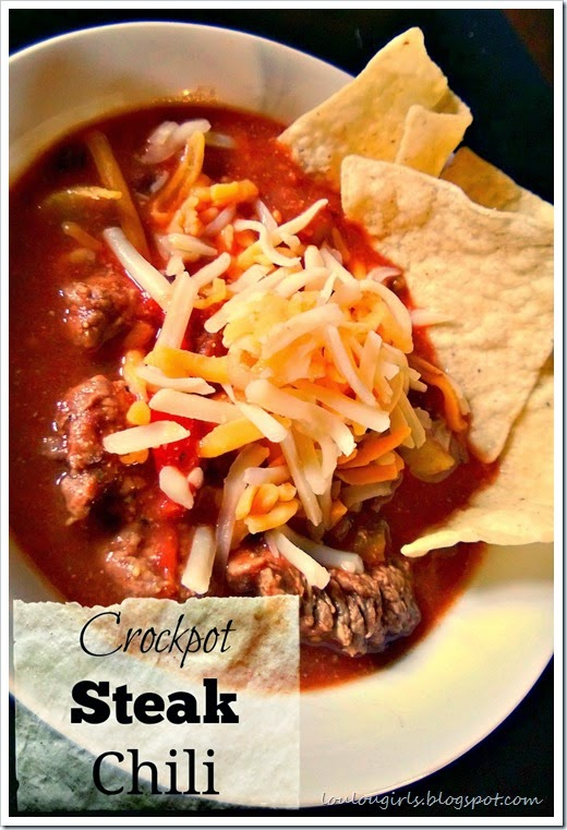 crockpot steak chili