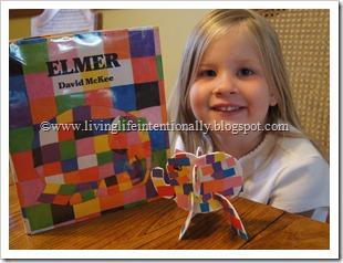 Elmer preschool craft for kids