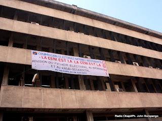 Une vue du siège de la Ceni à Kinshasa, ce 28/03/2011. Radio Okapi/Ph. John Bompengo