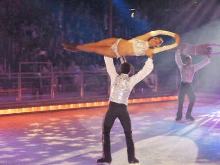 Croziera pe Mediterana: Spectacol patinaj