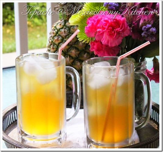 Homemade Pineapple Brew | Tepache Mexican Recipes