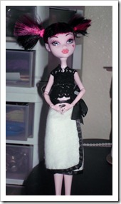 Lace top and wrap skirt for Monster High dolls