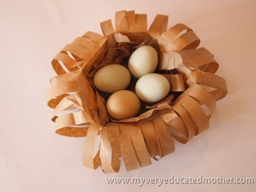 www.myveryeducatedmother.com Paper Bag Bird Nest #craftlightning