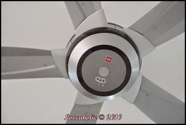 Quạt trần Panasonic với kiểu dáng hiện đại mạnh mẽ trong từng chi tiết