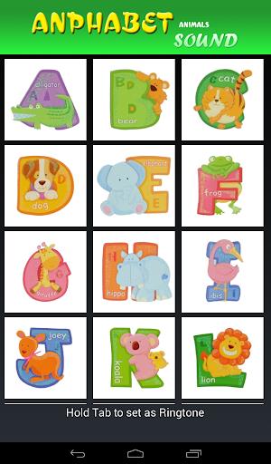 Alphabet animal sound new 2015