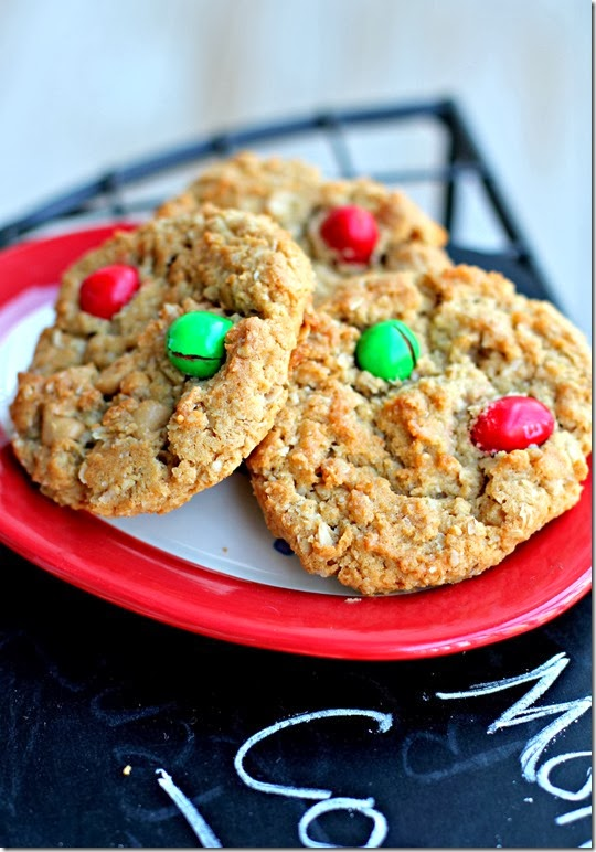 Peanut Butter M&M Monster Cookie