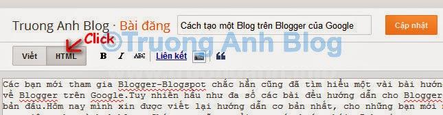 chuyển sang tab HTML