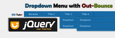 Drop Down Menu Navigation Dengan Efek Bounce