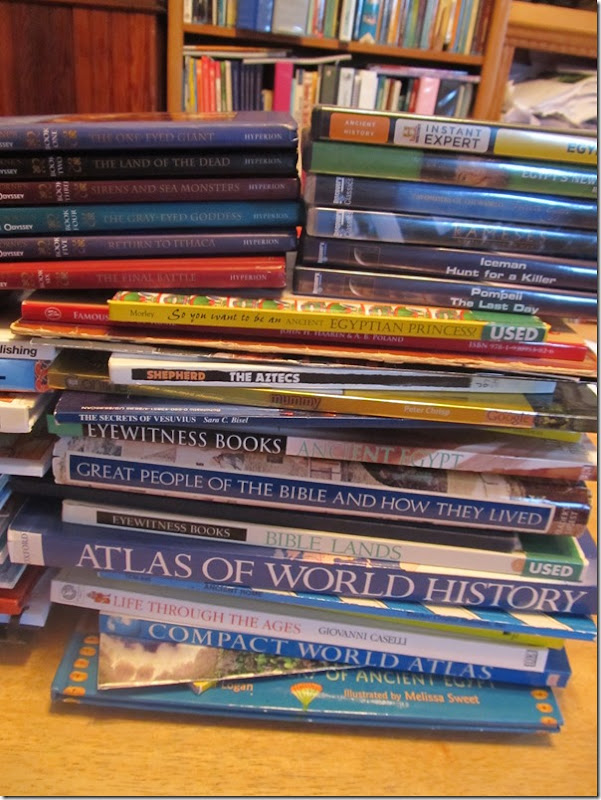 Stack of Ancient World History books 2