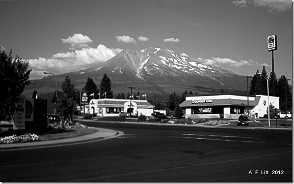 Mt. Shasta from Weed, California.  July 2004.