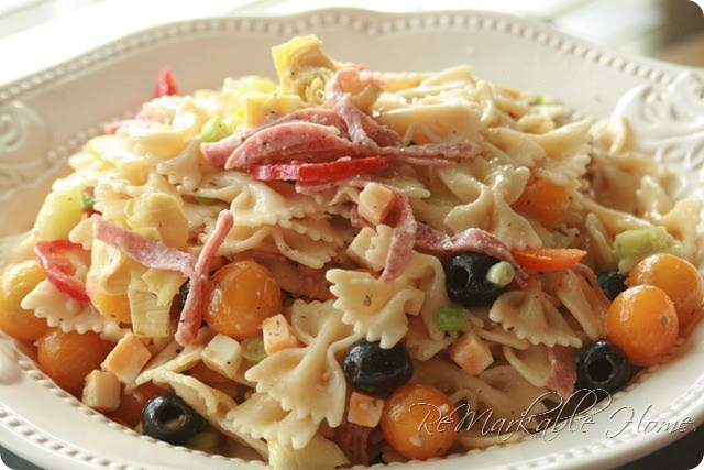 ReMarkable Home: ITALIAN PASTA SALAD {Recipe}