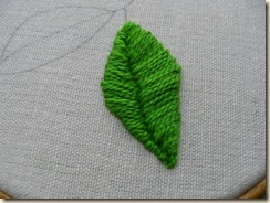 Satin Stitch Leaf 2