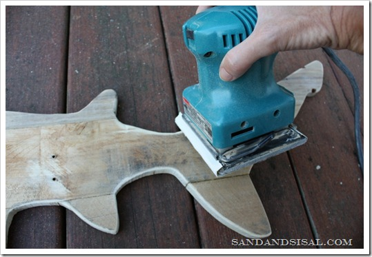 sanding pallet shark