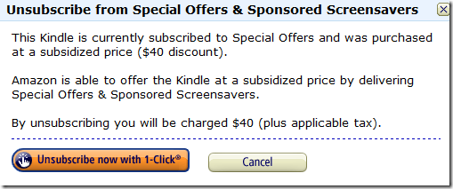 GeekTonic: Buy Kindle With Special Offers Or Ad-Free?