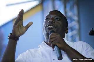 Joseph Kabila lors du meeting électoral qu'il a tenu à Goma, au Nord-Kivu, le 14 novembre 2011. © MONUSCO/Sylvain Liechti