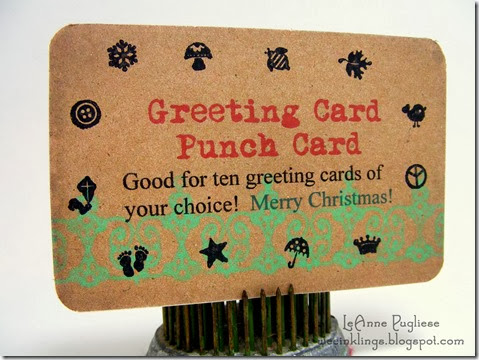 LeAnne Pugliese WeeInklings Stampin Up Punch Card