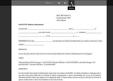 Come disdire l'abbonamento Sky grazie al decreto Bersani