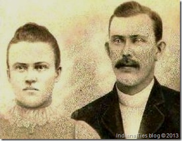 Mary Anna Risch and Charles Anthony Kuhn, 1879.