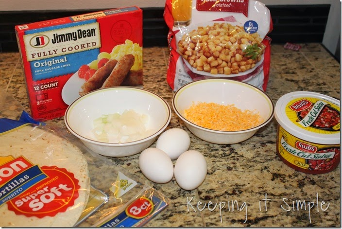 Easy Sausage Breakfast Burrito #BringHillshireHome (2)