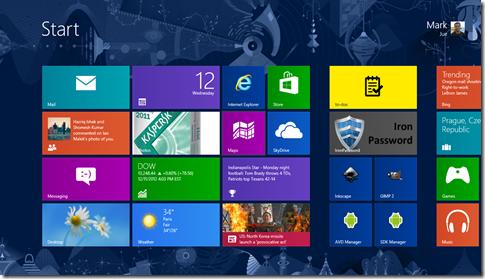 Windows 8's Home