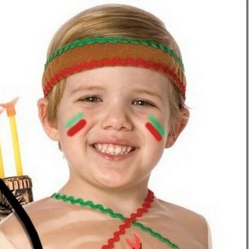Maquillaje de indio para niño