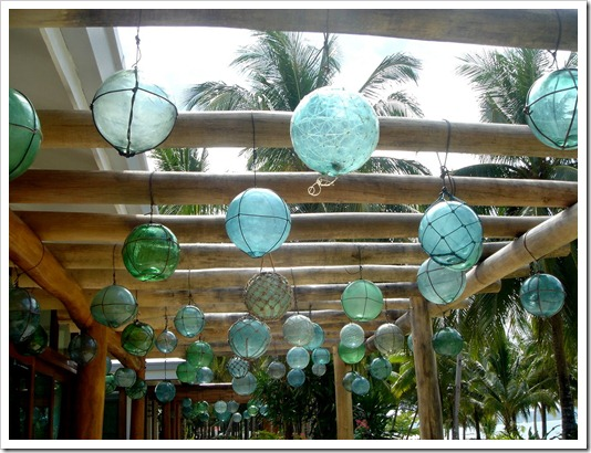Hanging glass floats