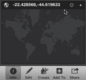 Adding GPS coordinates to iPhoto Assign a Place box