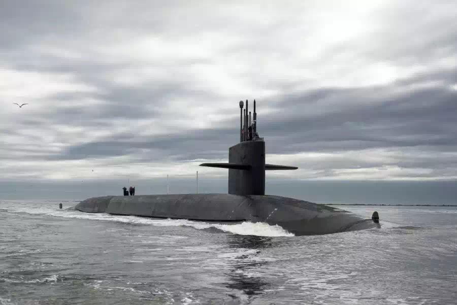 Tàu ngầm hạt nhân lớp Ohio của Mỹ.
