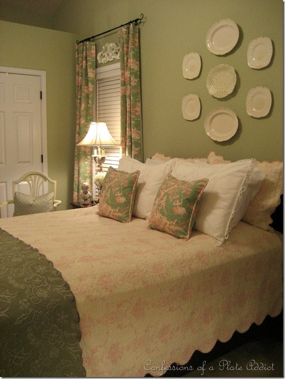 Green and Cream Bedroom