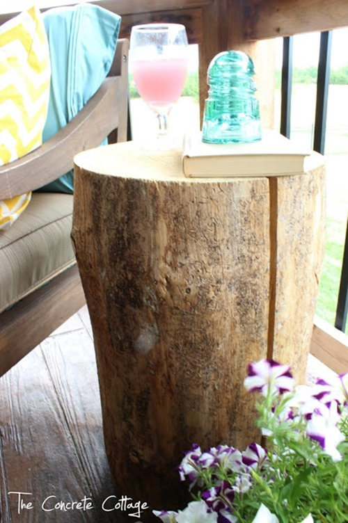 Tree Stump End Table 1