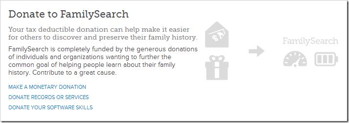 家庭搜索征求捐赠