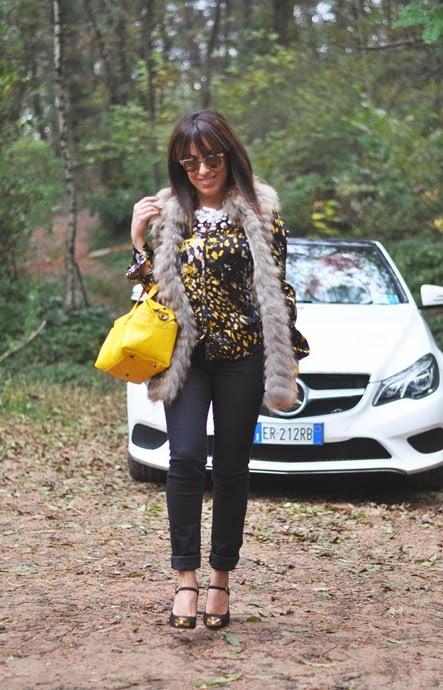 outfit, mercedes benz, varese, bellissima pelliccia, italian fashion bloggers, fashion bloggers, street style, zagufashion, valentina coco, i migliori fashion blogger italiani