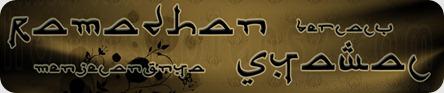 Ramadhan berlalu syawal menjelma