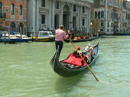 Activitati Venetia: Gondolier pe Canale Grande