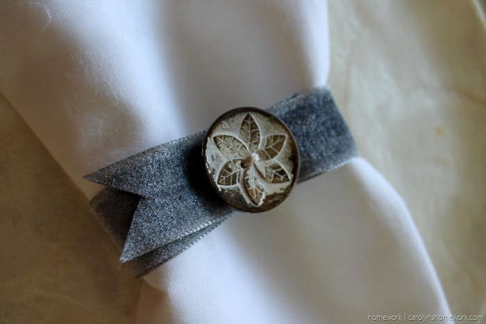 Vintage Button Napkin Ring via homework - carolynshomework (4)