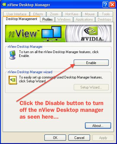 nvidia nview desktop manager gratuit