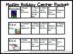 Teach students about the Muslim Holiday Eid al Adha with this free center packet.